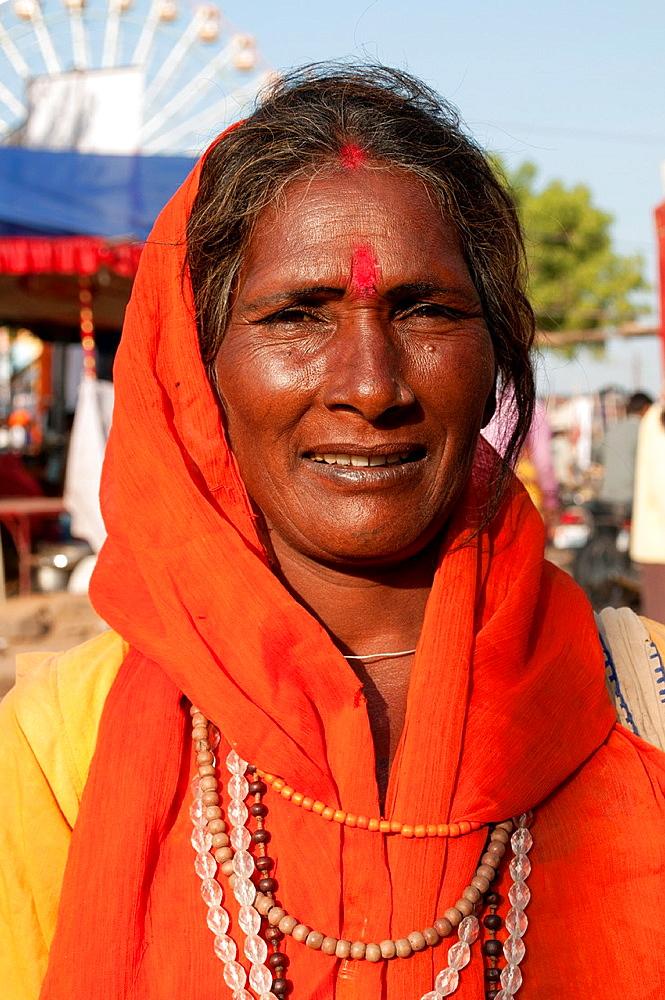 Woman at Camel Fair, Pushkar, Rajasthan, India - 817-366064