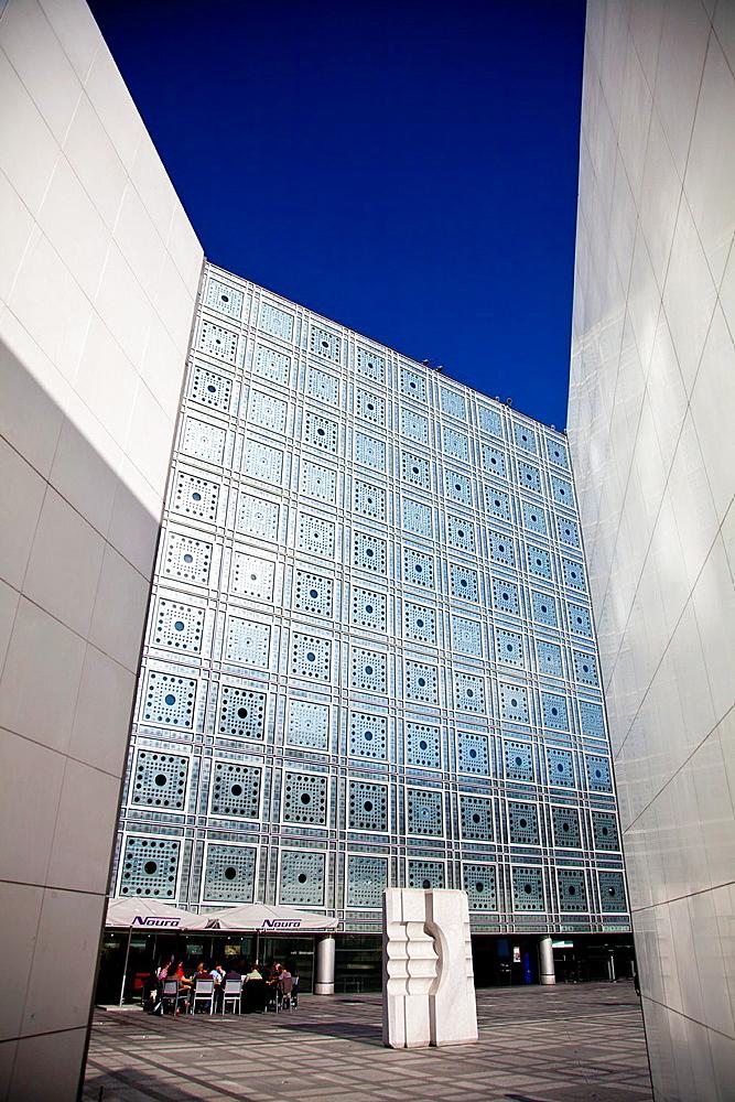 Arab World Institute designed by Jean Nouvel, Paris, Ile de France, France, Europe