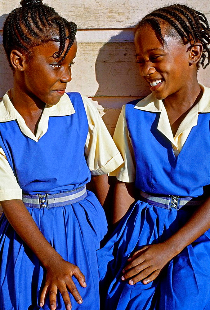 Girls, Barbados, West Indies, Caribbean