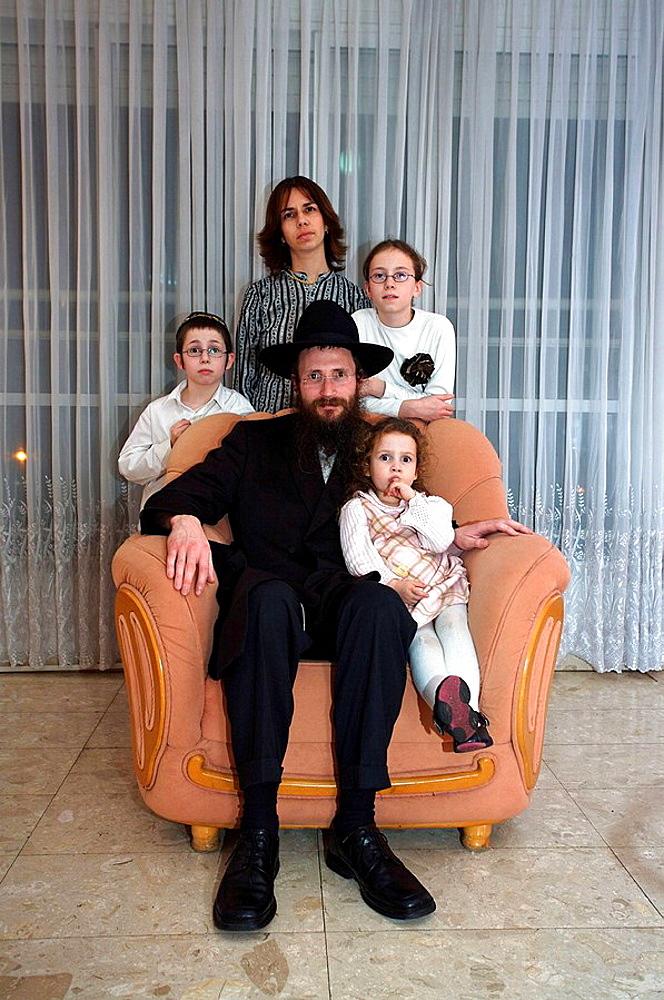 Home of a Lubavitch Rabbi, Orthodox Jews, Tel Aviv, Israel