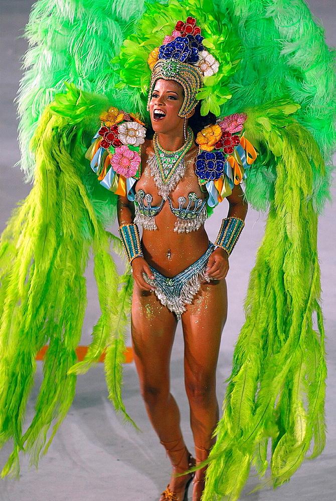 Rio carnival parade Rio de Janeiro Brazil