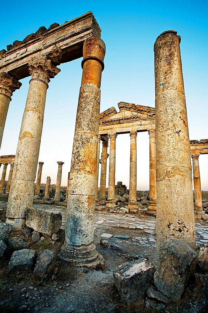 Ruins of the ancient Roman city of Apame, Syria