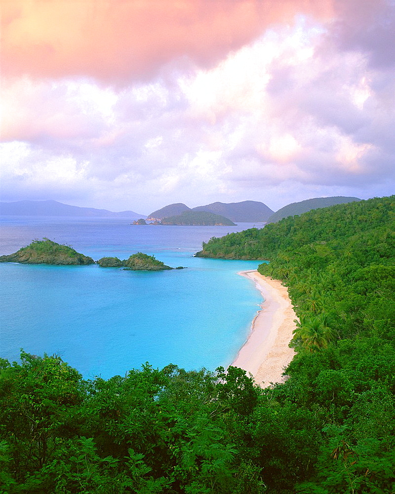 Trunk Bay and beach St John Island Part of U S National Park System Virgin Islands National Park, U S Virgin Islands