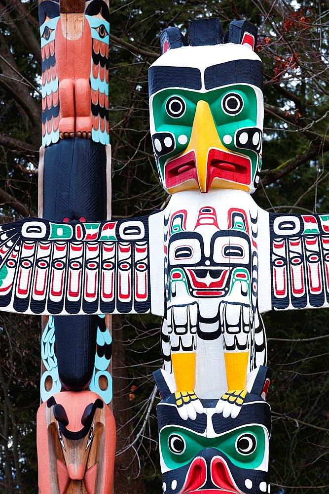 Canada, British Columbia, Vancouver, Stanley Park, First Nation Totem Poles