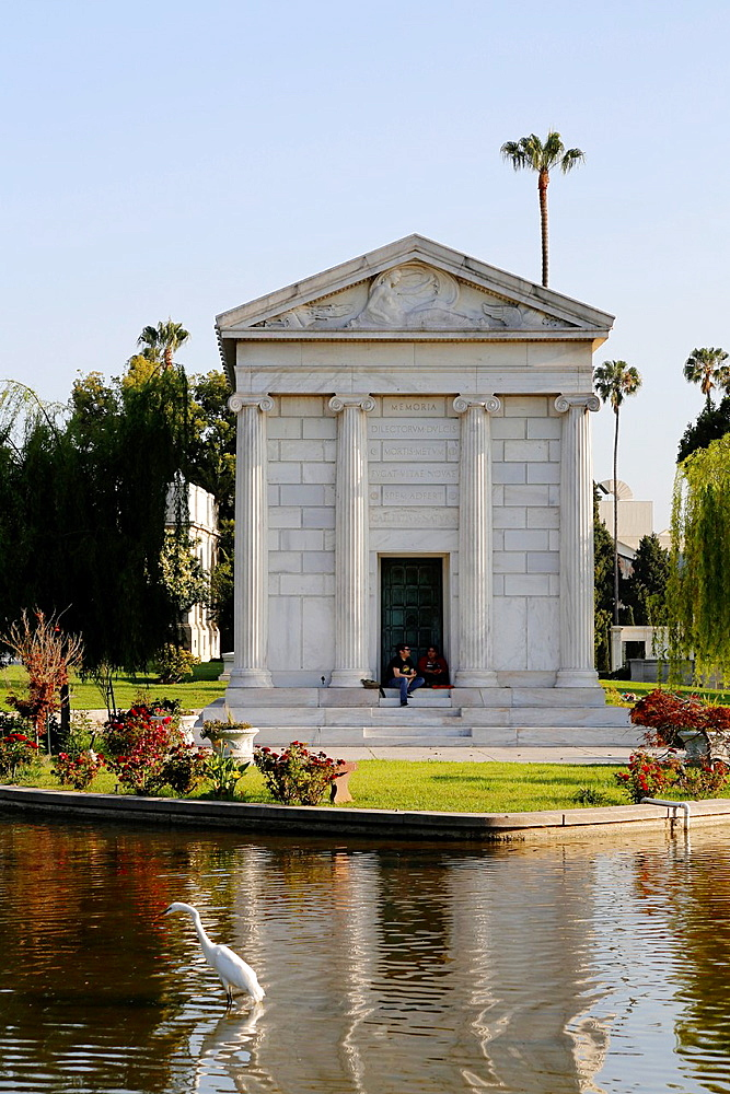 USA, California, city of Los Angeles, Hollywood Forever cemetery, where ara buried Johnny Ramone, Cecil B  DeMille, Jayne Mansfield, Rudolph Valentino, Douglas Fairbanks, and hundreds more of Hollywooda€™s greatest stars // Etats-Unis, Califor