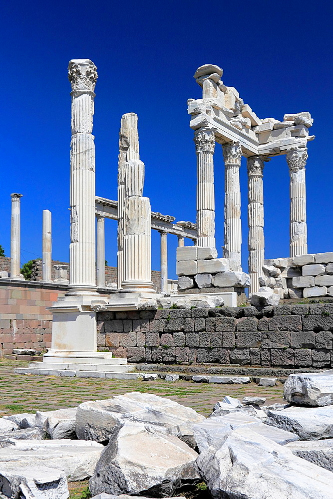 Temple of Trajan in Ancient Pergamon, Bergama, Turkey