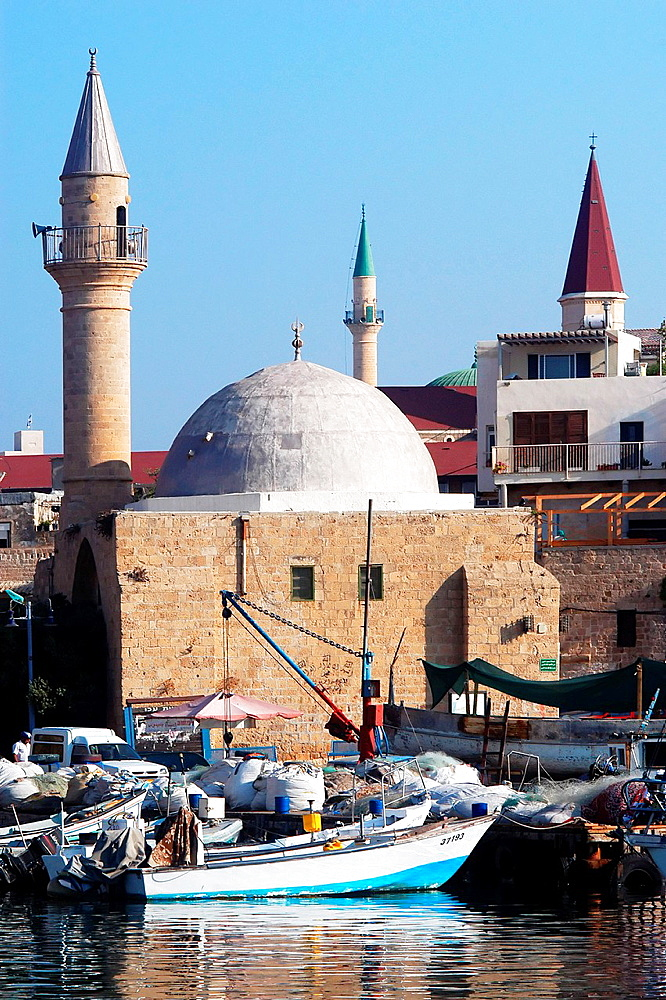 Sinan Basha Mosque in Acre or Akko, Israel