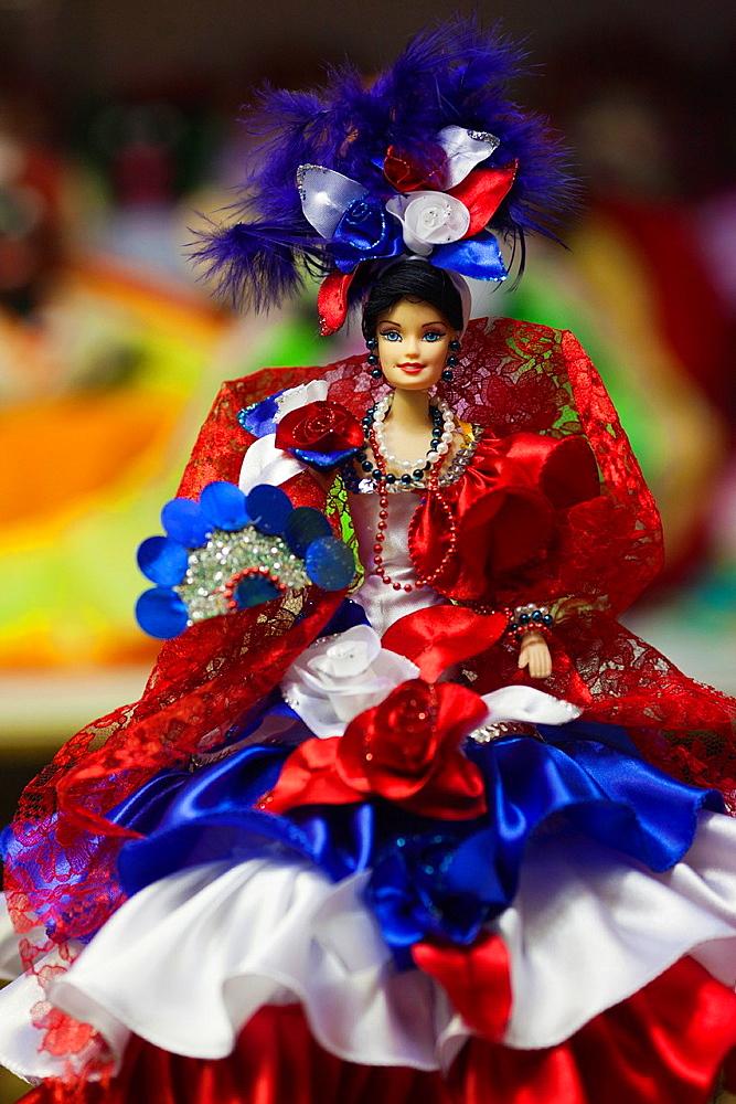 Cuba, Havana, Havana Vieja, Centro Cultural Antigos Almacenes de Deposito San Jose, craft market, interior, Cuban souvenirs