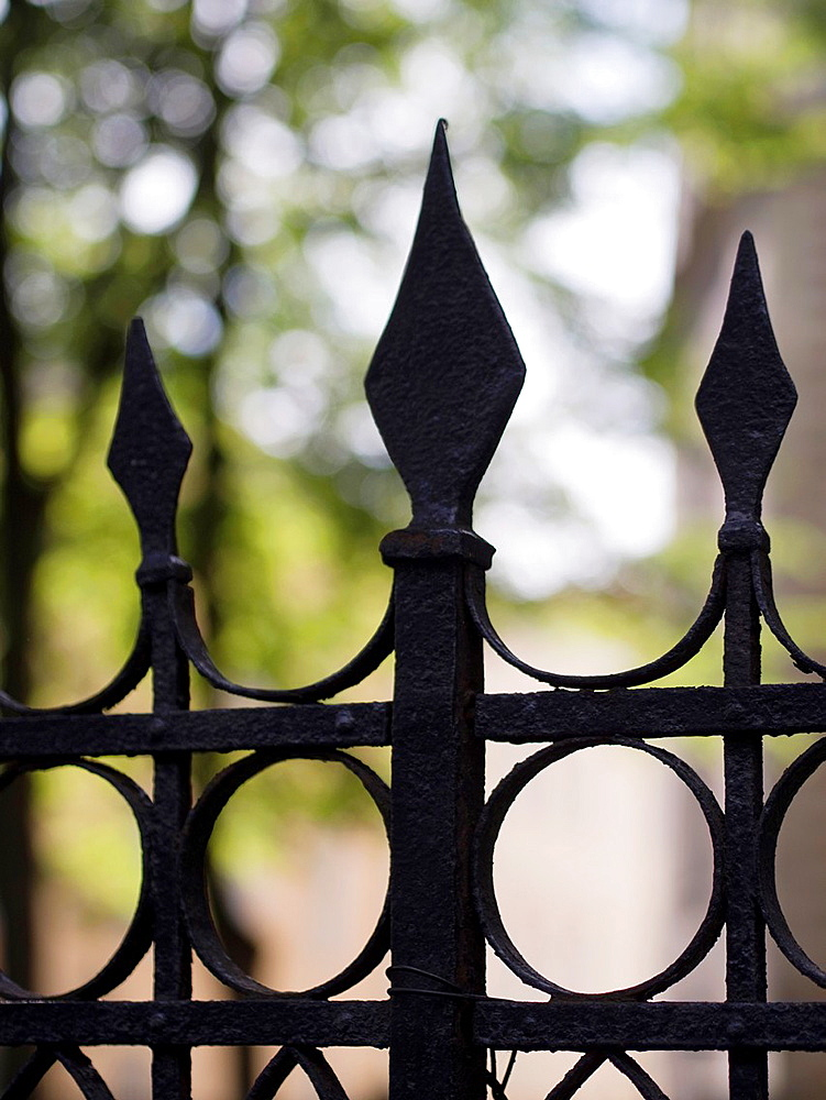 Iron gates in Old City in Tallin, Estonia - 817-408812