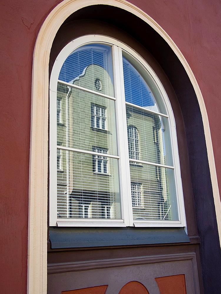 Reflection in window in Turku, Finland