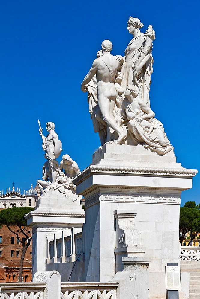 The Victor Emmanuel II monument in Rome, Italy
