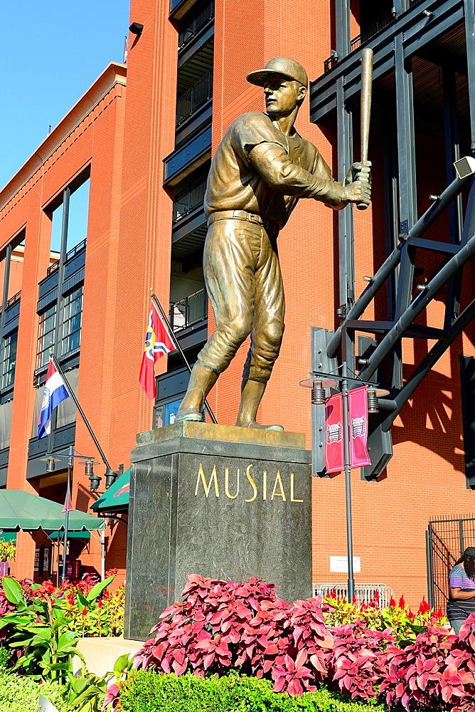 Stan Musial Statue Busch Stadium St  Louis MO Missouri Cardinals Baseball