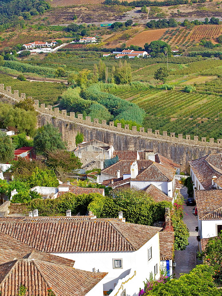 Fortified Medieval Castle Walls of Obidos