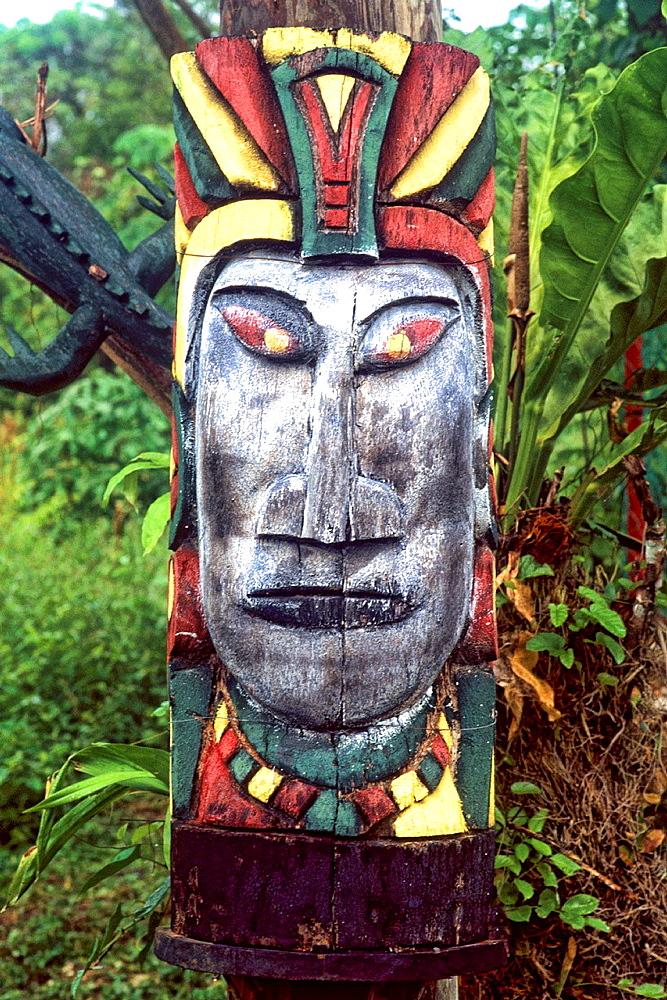 Mayan artwork at Altun Ha Ruins in Belize