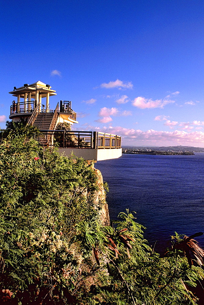 Tower over water at Two Lovers Point Guam USA