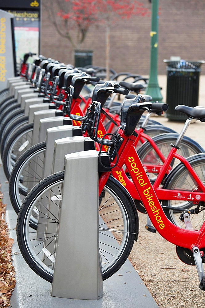 Washington, DC, Capital Bikeshare, a membership-based bicycle sharing service Capital Bikeshare offers 1670 bicycles at 175 docking stations in the city It was established by city governments in Washington, Arlington, and Alexandria