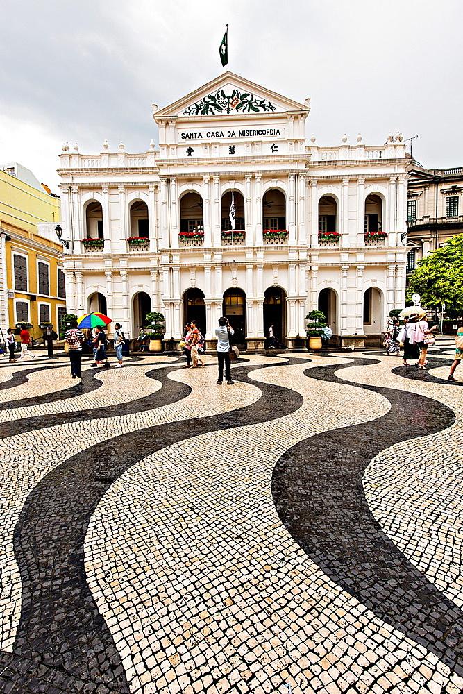 Santa Casa da Misericordia in Senado Square Macau