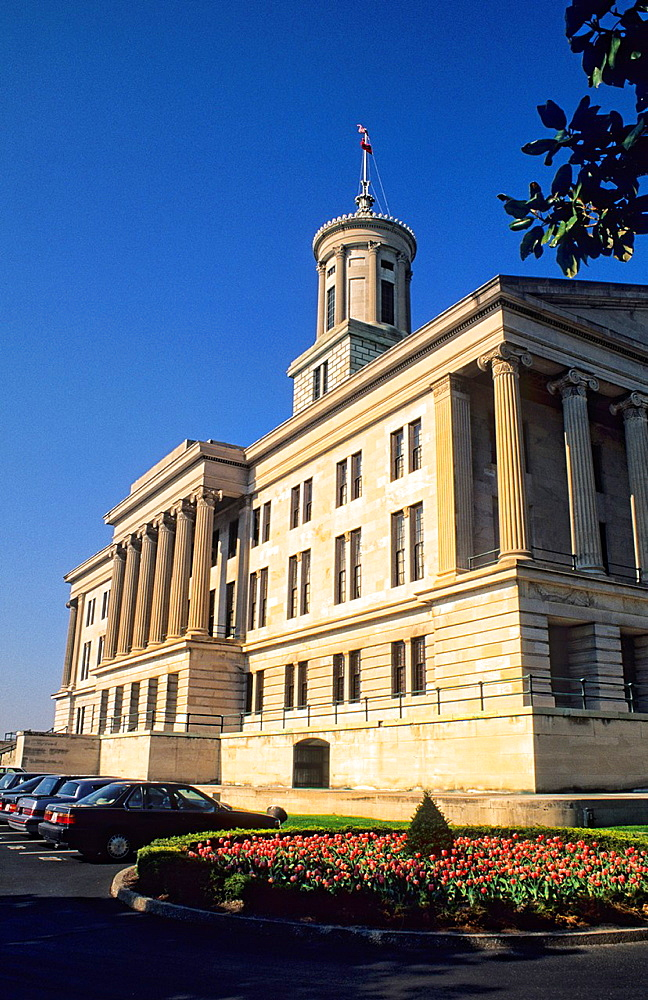 Tennessee Capital Building in Nashville Tennessee where Vice President Al Gore also worked