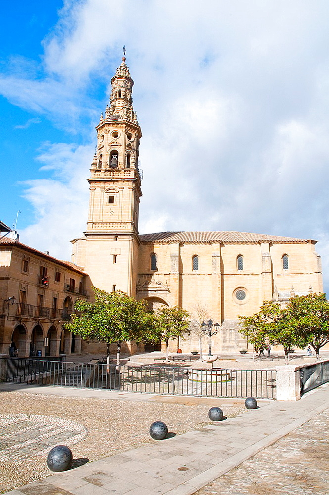 Church of La Asuncion. Main Square, Briones, La Rioja province, Spain.