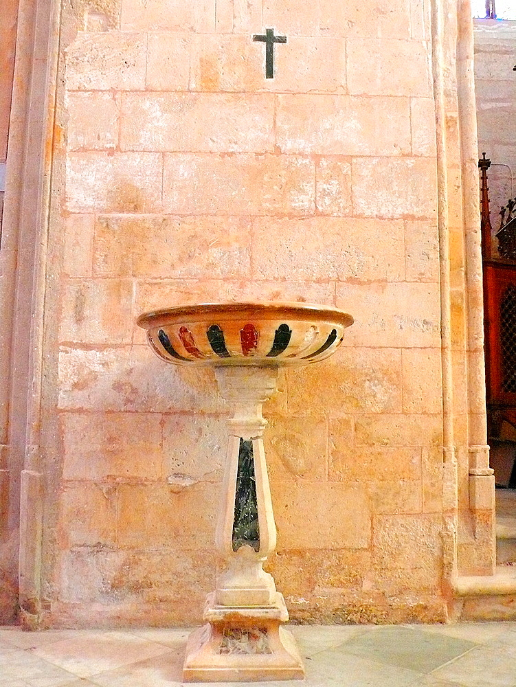 Baptistery of Ciutadella cathedral Minorca, Balearic Islands, Spain