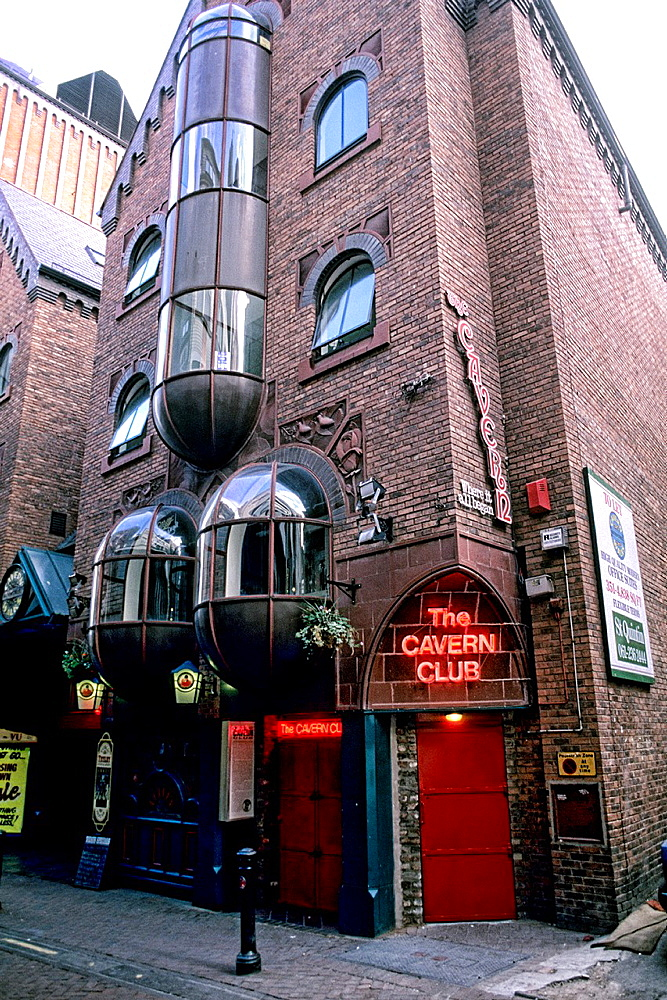Famous Cavern Club where the Beatles performed in Liverpool England