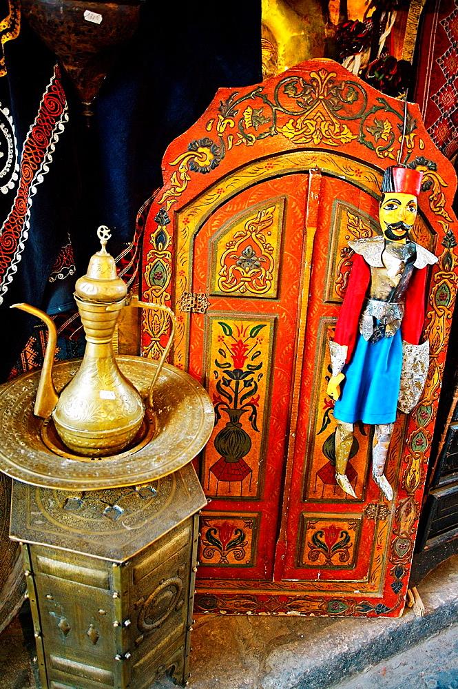 Souvenirs shop, Medina, Tunis Tunisia.