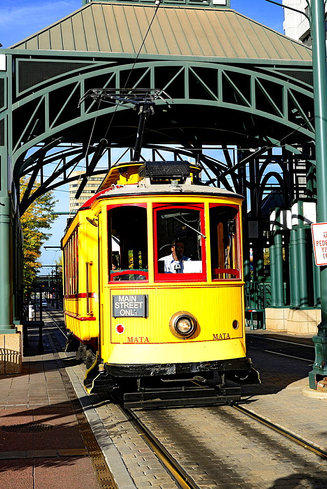 Trolley Car Trasnportation Memphis Tennessee TN
