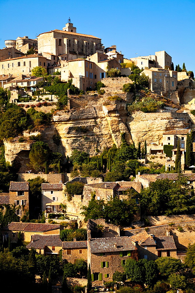 Panoramic of Gordes, Vaucluse, Provence, France
