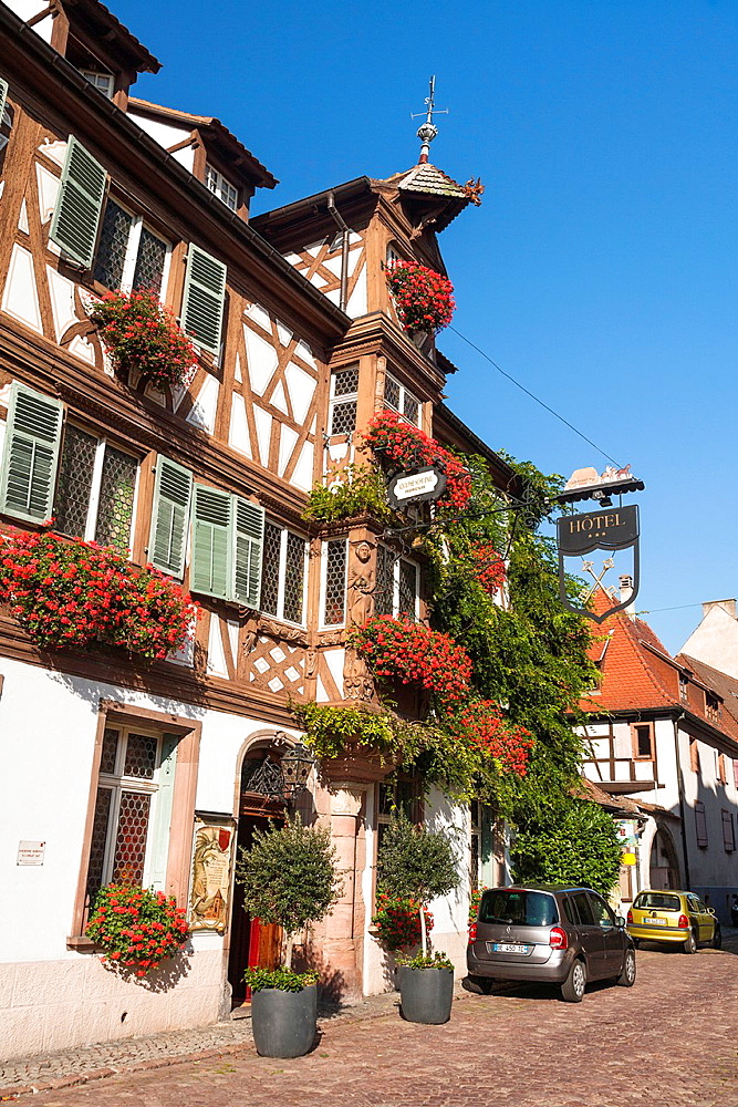 Charming traditional houses in Turckheim, Alsace, France
