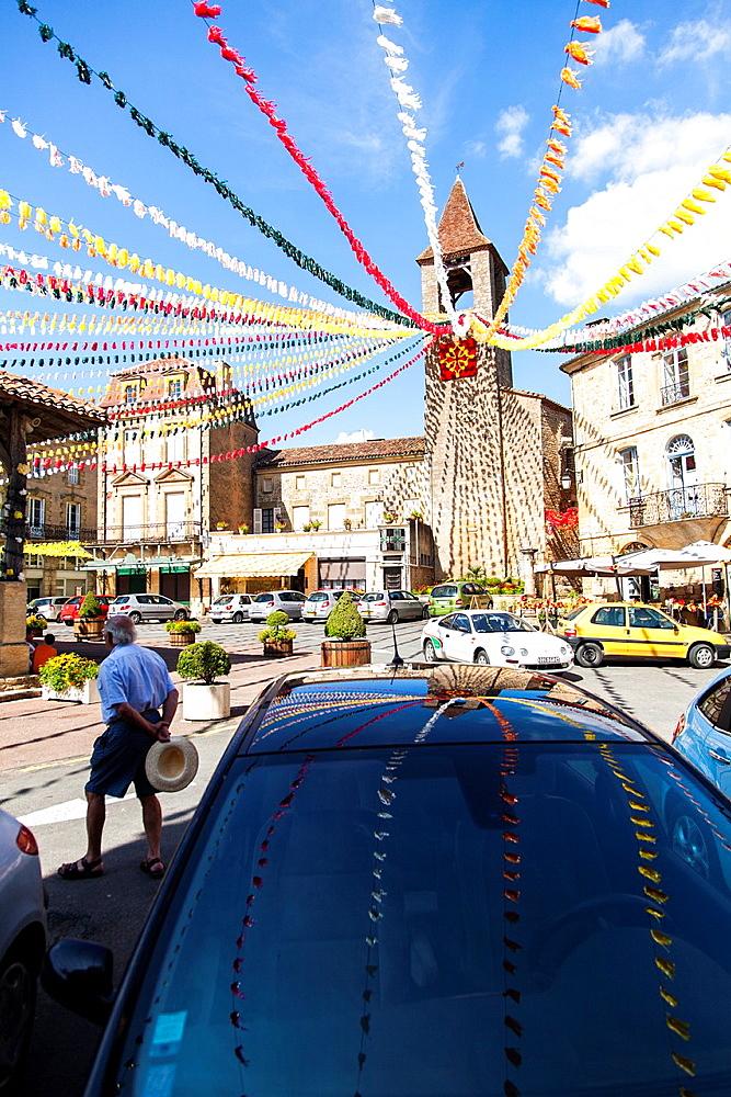 Summer festival in Balmes, Perigueux, Dordogne, Aquitaine, France