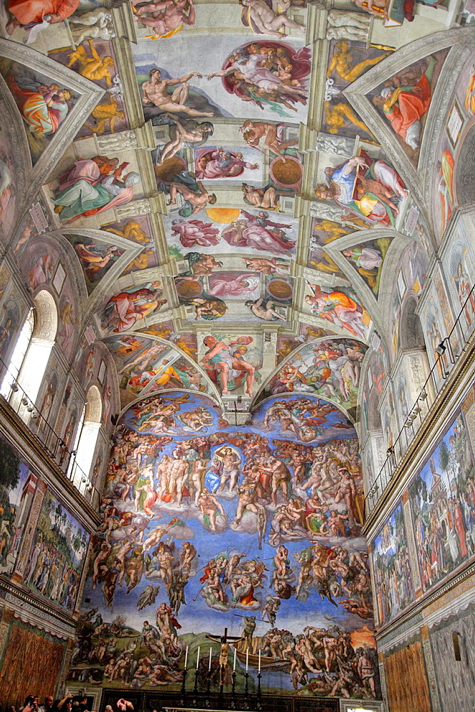 The Sistine chapel by Michelangelo, Vatican, Rome, Italy