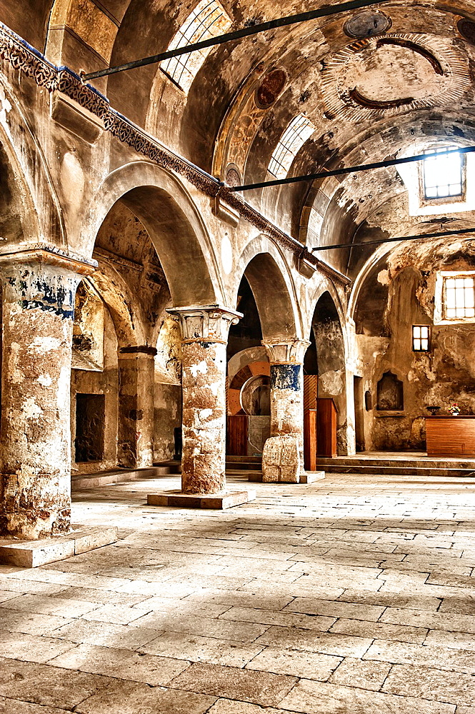 St Constantine and Helena Church, Interior, Mustafapasa, Cappadocia, Anatolia, Turkey
