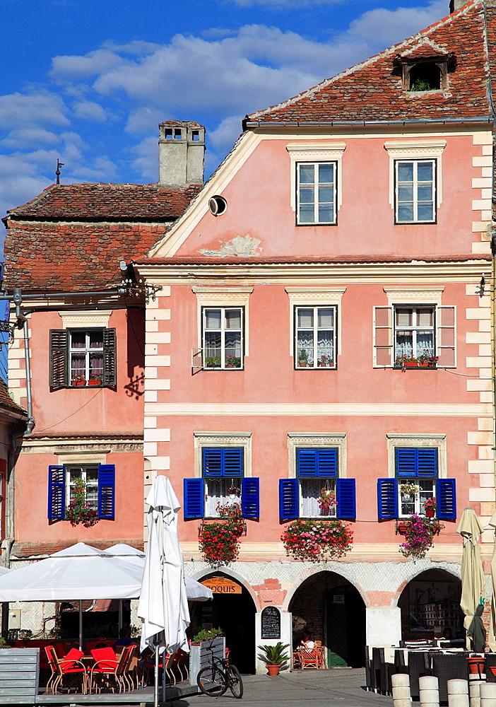 Romania, Sibiu, Piata Mica, typical architecture,  - 817-416874