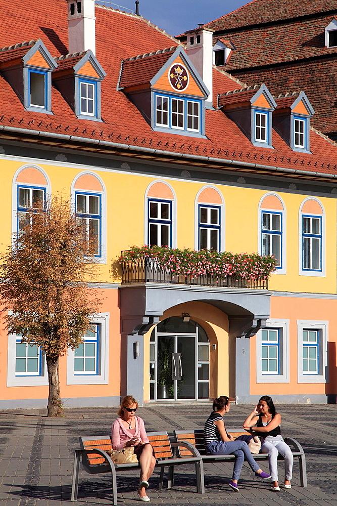 Romania, Sibiu, Piata Mare, Casa Lutsch,  - 817-416888
