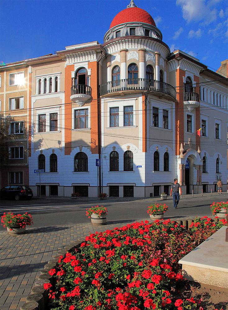Romania, Targu Mures, street scene, architecture,