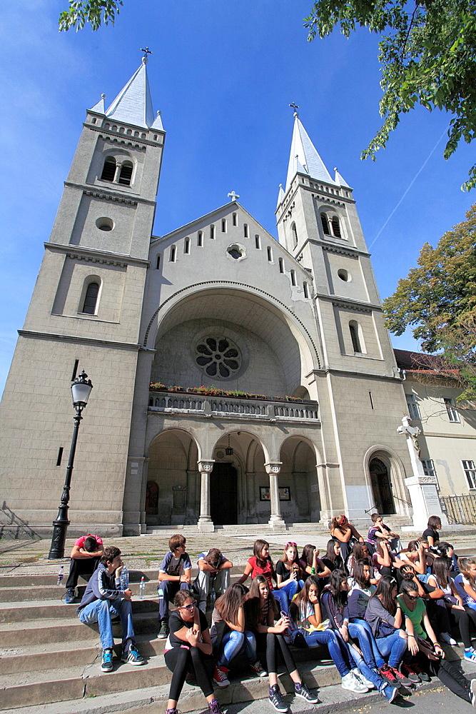 Serbia, Vojvodina, Subotica, Franciscan Church, people,