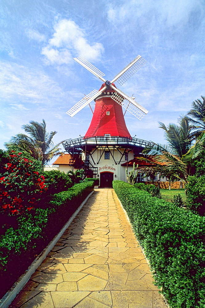 Famous Old Mill Restaurant in Aruba