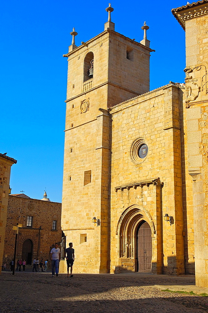 Caceres, San Mateo church, San Mateo Square, Old Town, UNESCO world Heritage site, Extremadura, Spain