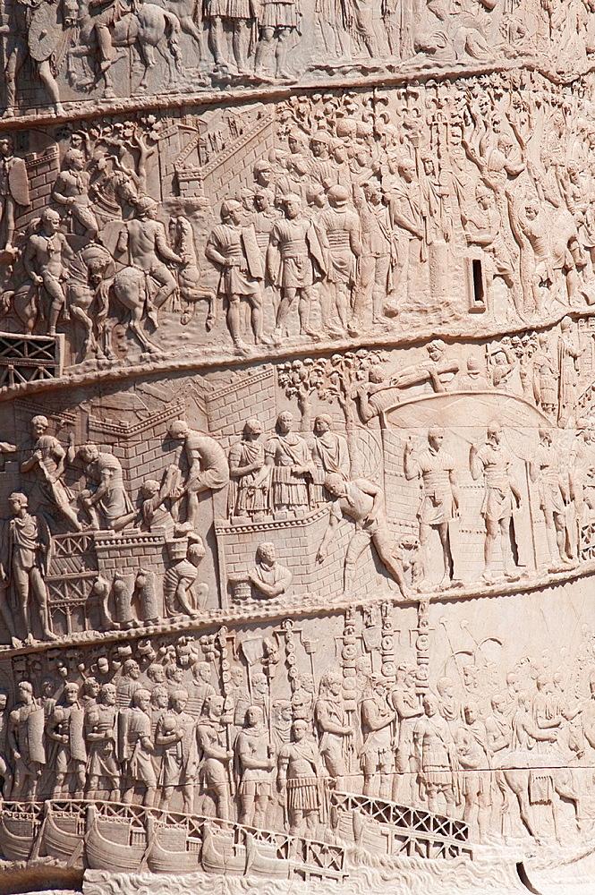 Italy, Lazio, Rome, Trajan¥s Column detail