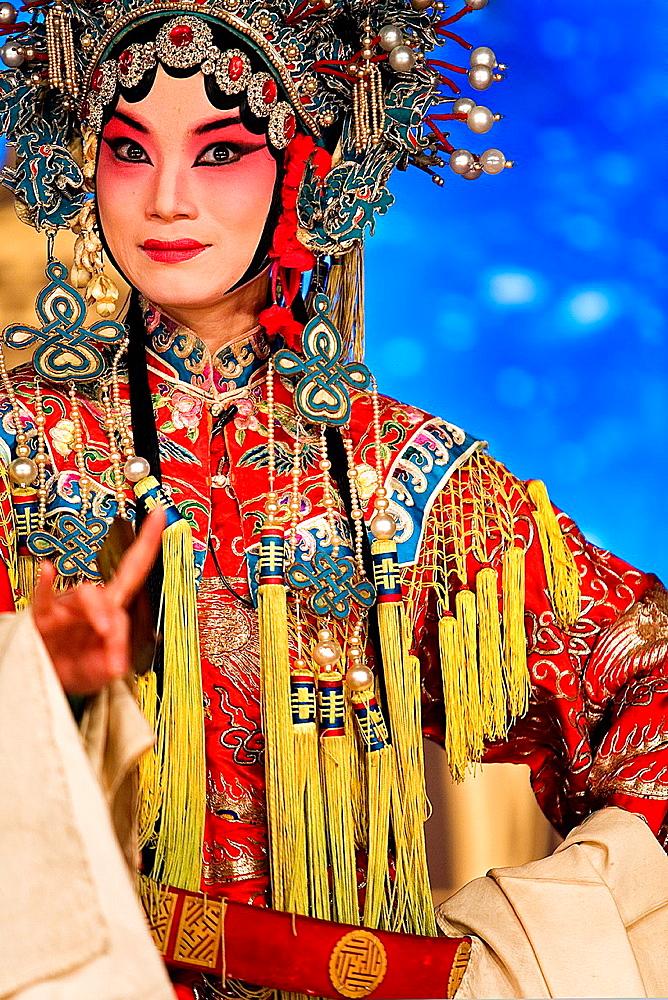 Pekin opera show  Laoshe Teahouse  N∫3 Qianmen Avenue West,Beijing, China