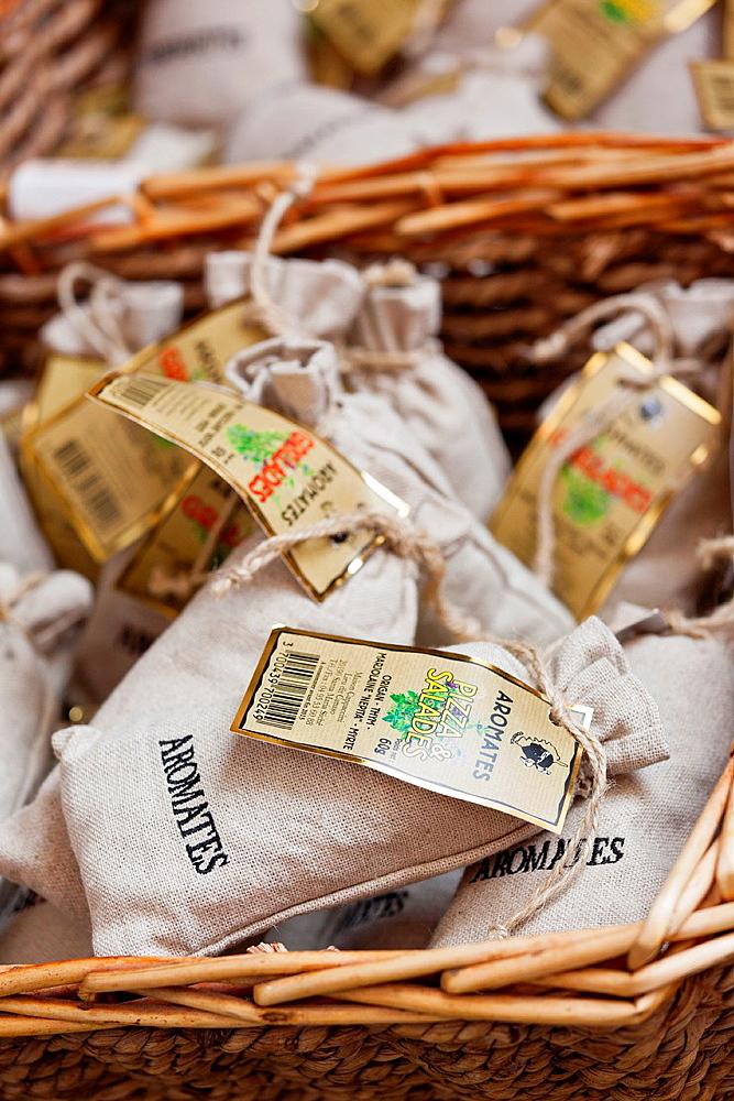 France, Corsica, Haute-Corse Department, La Balagne Region, Calvi, souvenirs, Corsican spices