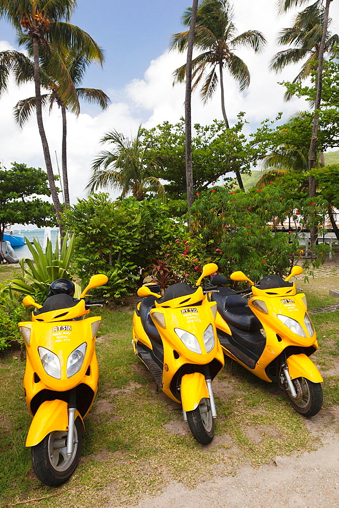 St Vincent and the Grenadines, Bequia, Port Elizabeth, rental scooters