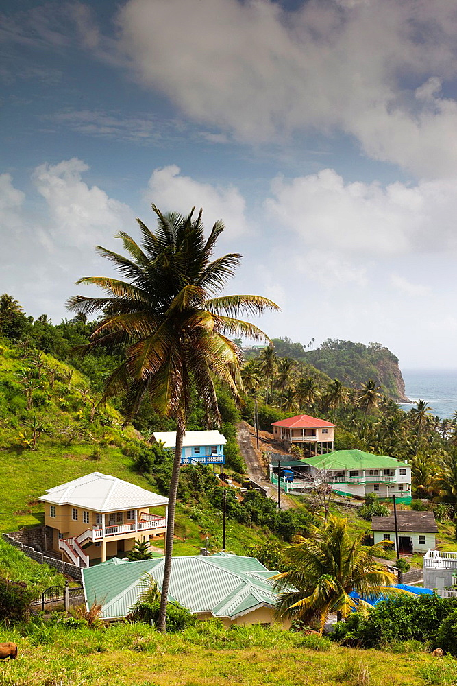 St Vincent and the Grenadines, St Vincent, Windward Coast, houses, Grants Bay