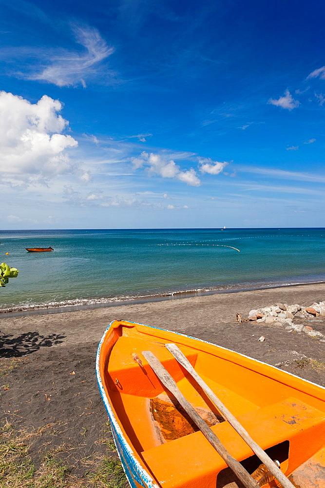 Dominica, Mero Beach, black sand beach