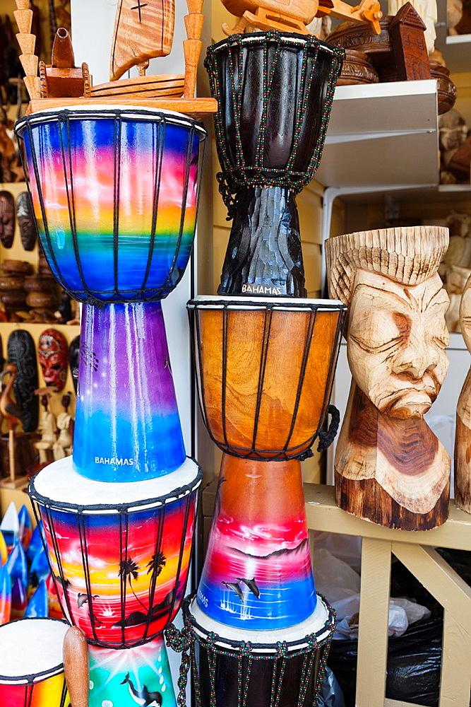Bahamas, New Providence Island, Nassau, Straw market, Bahamian souvenirs