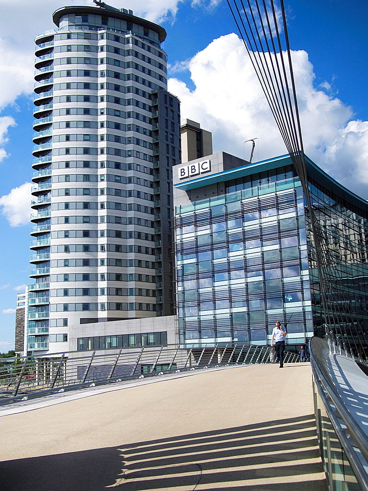 BBC offices in MediaCityUK, in Salford outside Manchester, England