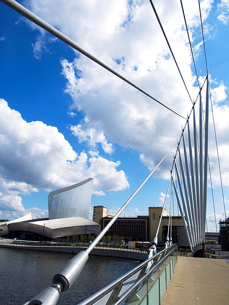 Imperial War Museum North in MediaCityUK, in Salford outside Manchester, England