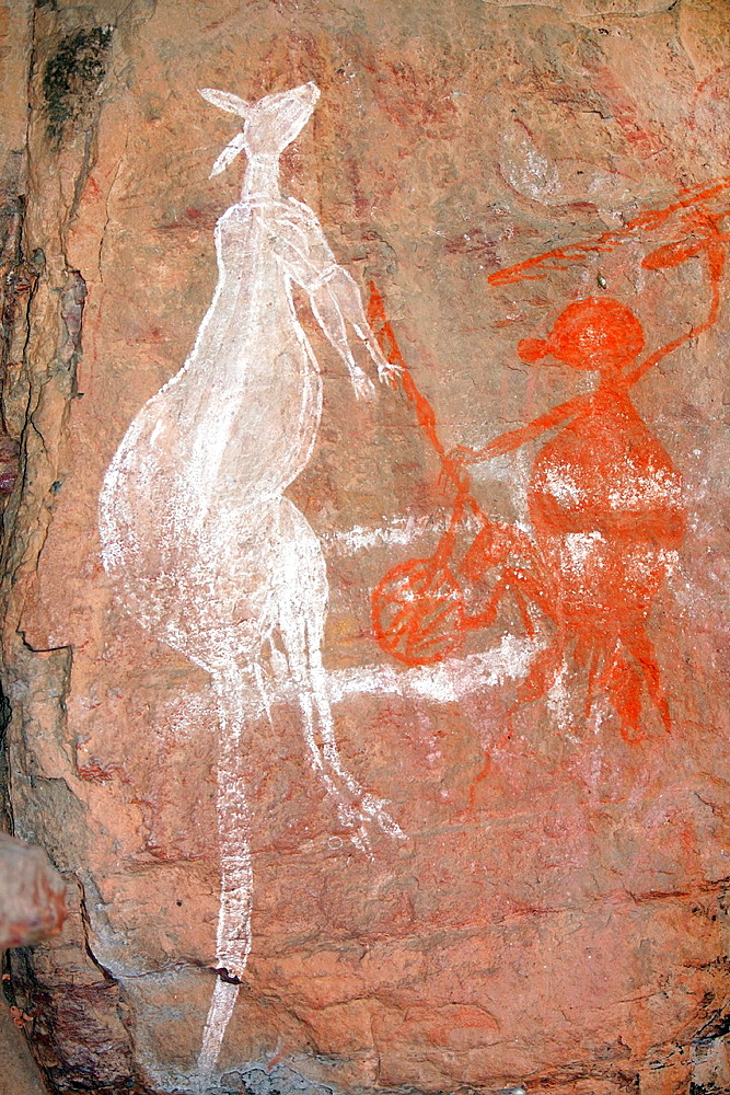 Nourlangie Aboriginal rock art site in Kakadu National Park, Northern Territory, Australia