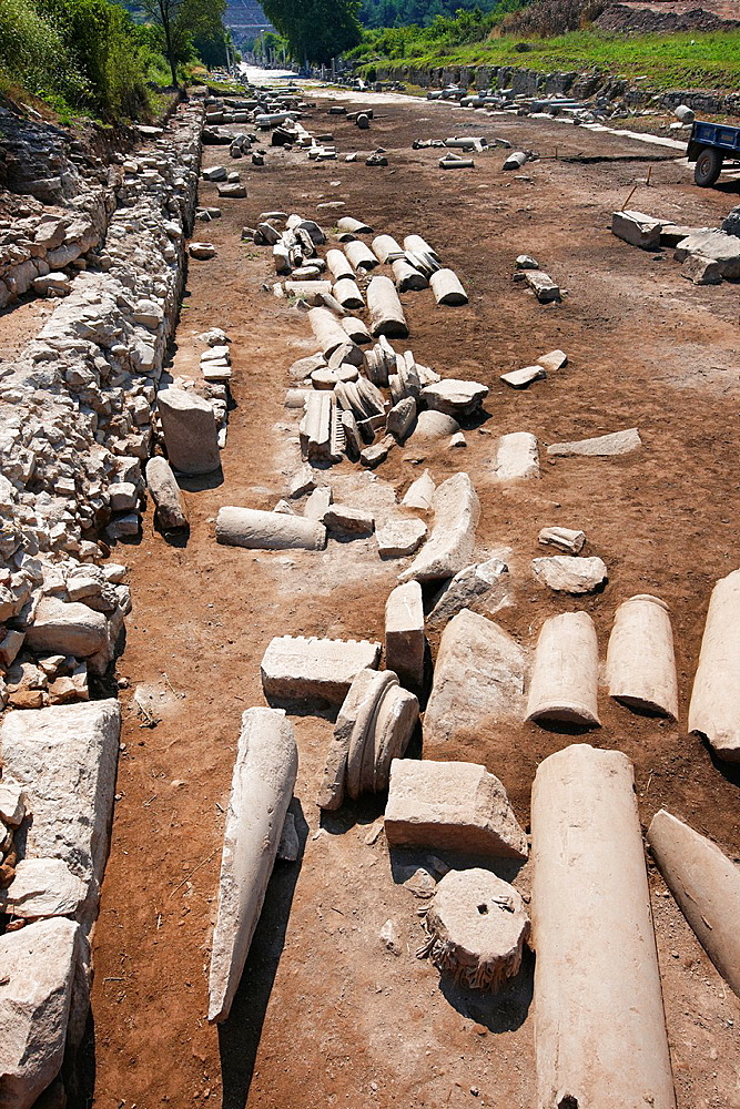 The road from the harbour to the city Ephesus Archaeological Sitee, Izmir province, Turkey