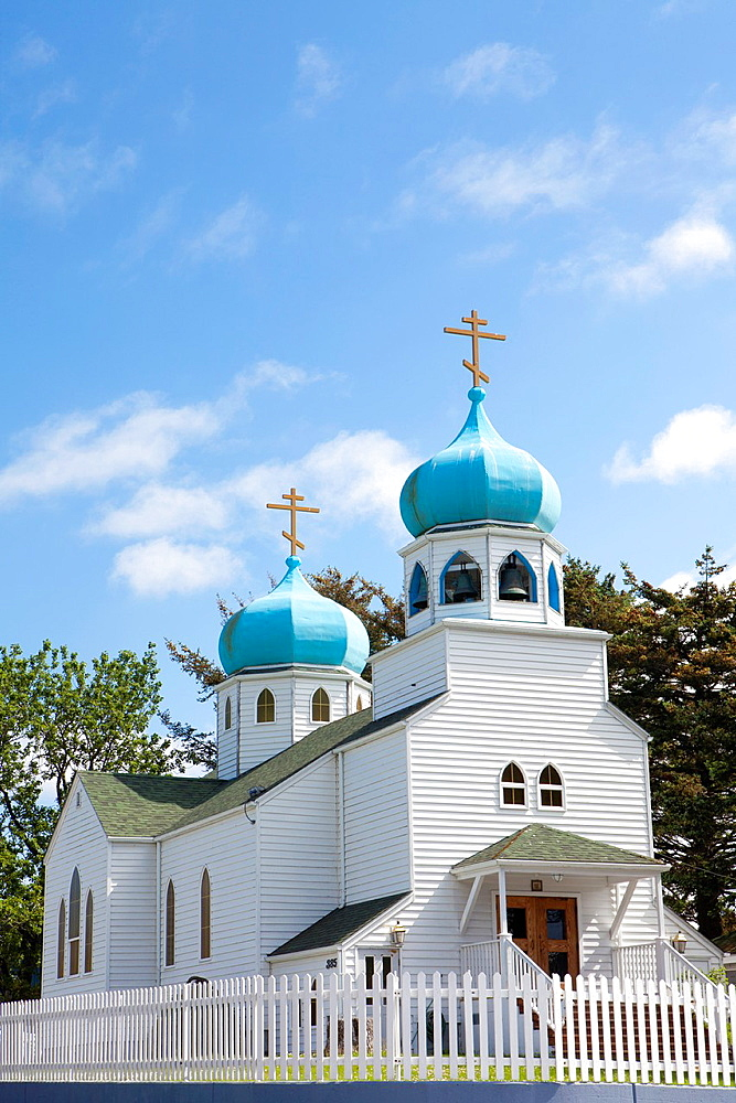 Russian Orthodox Church, Kodiak city in Kodiak Island, Alaska, USA